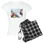 card-Creation-Basset1 Women's Light Pajamas
