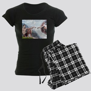 card-Creation-Basset1 Women's Dark Pajamas