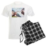 card-Creation-Basset1 Men's Light Pajamas