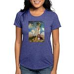 card-umbrella-basset1 Womens Tri-blend T-Shirt