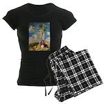 card-umbrella-basset1 Women's Dark Pajamas