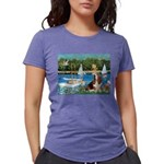card-Sailbts1-Basset2 Womens Tri-blend T-Shirt