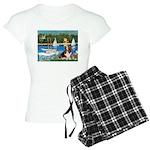 card-Sailbts1-Basset2 Women's Light Pajamas