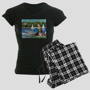 card-Sailbts1-Basset2 Women's Dark Pajamas