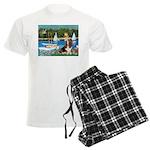 card-Sailbts1-Basset2 Men's Light Pajamas