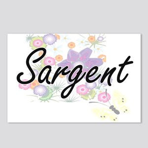 Sargent surname artistic Postcards (Package of 8)