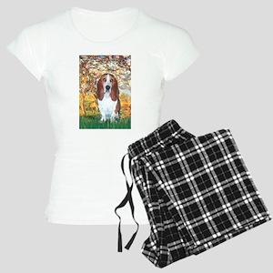 TILE-SpringM-Basset4 Women's Light Pajamas