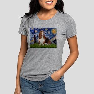 5.5x7.5-Starry-Basset2 Womens Tri-blend T-Shir