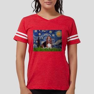 5.5x7.5-Starry-Basset1 Womens Football Shirt