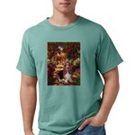 card-Path-Basset1 Mens Comfort Colors Shirt