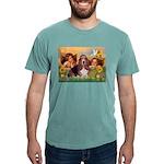 card-Cherubs-Basset1 Mens Comfort Colors Shirt