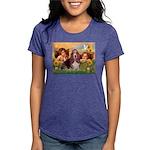 card-Cherubs-Basset1 Womens Tri-blend T-Shirt