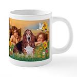 card-Cherubs-Basset1 20 oz Ceramic Mega Mug