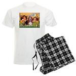 card-Cherubs-Basset1 Men's Light Pajamas