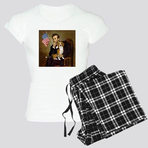 5.5x7.5-Lincoln-Beagle7 Women's Light Pajamas