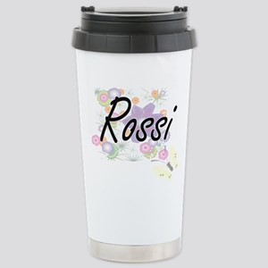 Rossi surname artistic Stainless Steel Travel Mug