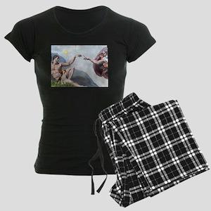 5.5x7.5-Creation-Beagle1 Women's Dark Pajamas