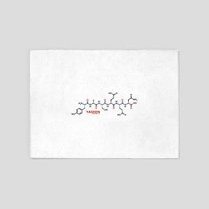 Yaseen molecularshirts.com 5'x7'Area Rug