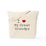 I Heart My Great Grandpa Tote Bag