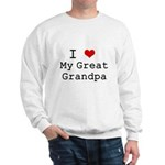 I Heart My Great Grandpa Sweatshirt