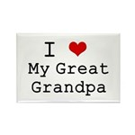 I Heart My Great Grandpa Rectangle Magnet (10 pack