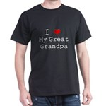 I Heart My Great Grandpa Dark T-Shirt