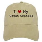 I Heart My Great Grandpa Cap