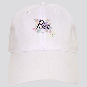 Rice surname artistic design with Flowers Cap