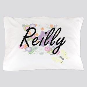 Reilly surname artistic design with Fl Pillow Case