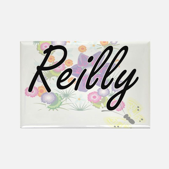 Reilly surname artistic design with Flower Magnets