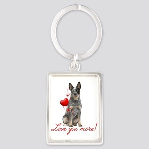 Love You More! Cattle Dog Keychains