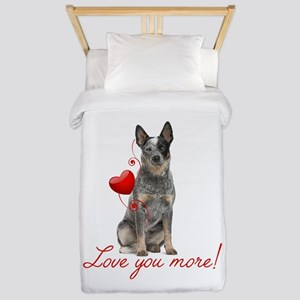 Love You More! Cattle Dog Twin Duvet
