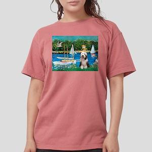 Beardie 1 - Sailboats Womens Comfort Colors Sh