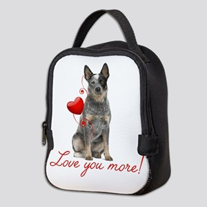Love You More! Cattle Dog Neoprene Lunch Bag