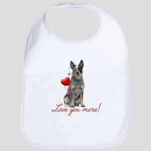 Love You More! Cattle Dog Bib
