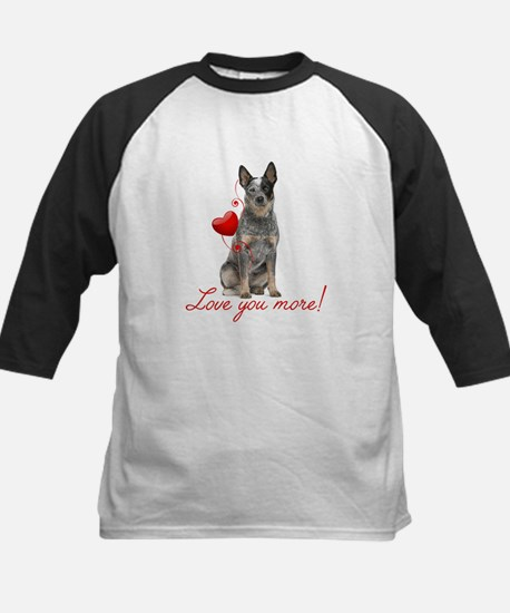 Love You More! Cattle Dog Baseball Jersey