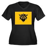 Viking Gold Women's Plus Size V-Neck Dark T-Shirt