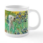 TILE-IRISES-Bedlington1 20 oz Ceramic Mega Mug