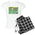 TILE-IRISES-Bedlington1 Women's Light Pajamas