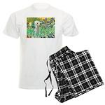 TILE-IRISES-Bedlington1 Men's Light Pajamas