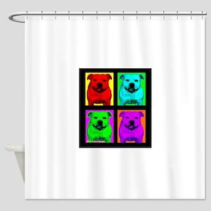 Pitt Bull Pup Art Shower Curtain