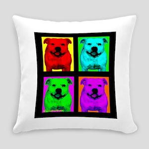 Pitt Bull Pup Art Everyday Pillow