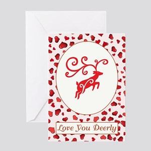 LOVE YOU DEERLY Greeting Cards