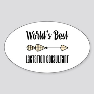 World's Best Lactation Consultant Sticker (Oval)