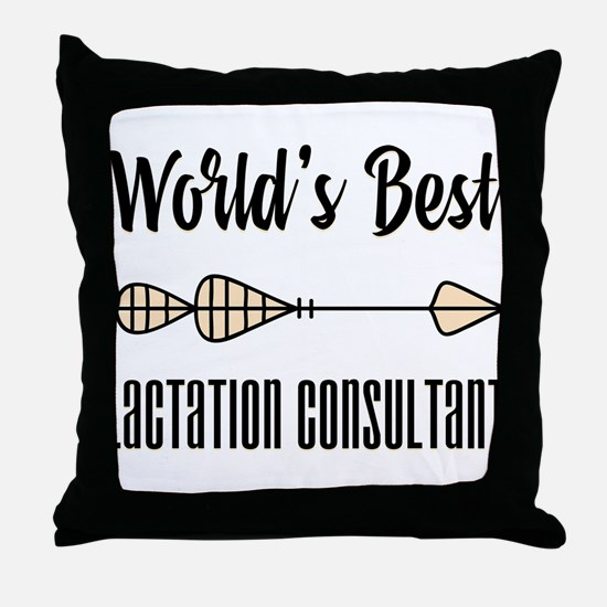 World's Best Lactation Consultant Throw Pillow