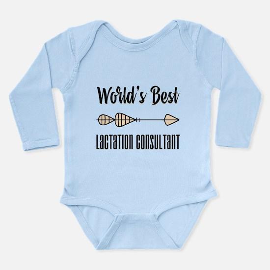 World's Best Lactation Long Sleeve Infant Bodysuit