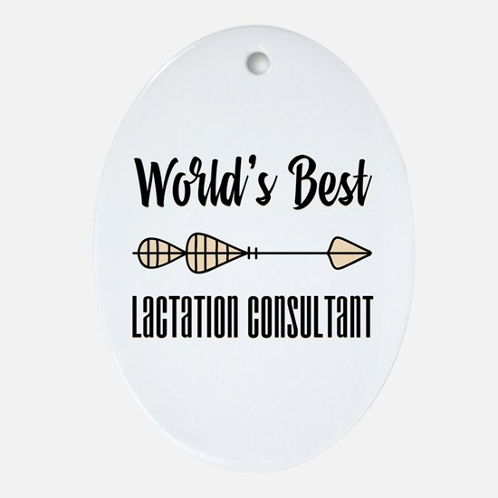 World's Best Lactation Consultant Oval Ornament
