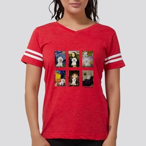 FamousArt-BichonFrise-CLEAR Womens Football Sh