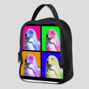 Afghan Hound Pup Art Neoprene Lunch Bag