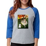 8x10-Dancer1-Bichon1 Womens Baseball Tee